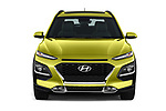 Car photography straight front view of a 2018 Hyundai Kona Limited 5 Door SUV Front View
