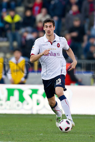 Davide Astori (Cagliari), MARCH 6, 2011 - Football : Italian  Series A  match between Bologna 2-2 Cagliari at Renato Dall'Ara Stadium in Bologna, Italy.