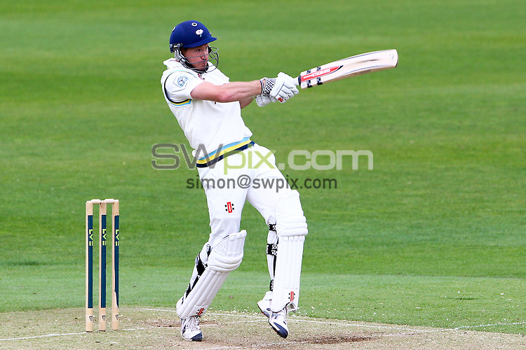 PICTURE BY ALEX WHITEHEAD/SWPIX.COM - Cricket - County Championship - Yorkshire v Somerset, Day 2 - Headingley, Leeds, England - 08/05/13 - Yorkshire's Richard Pyrah hits out.