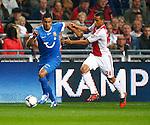 Nederland, Amsterdam, 29 september 2012.Eredivisie .Seizoen 2012-2013.Ajax-FC Twente.Nacer Chadli (l.) van FC Twente en Ricardo van Rhijn (r.) van Ajax strijden om de bal