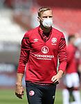 nph00001  17.05.2020 --- Fussball --- Saison 2019 2020 --- 2. Fussball - Bundesliga --- 26. Spieltag: FC Sankt Pauli - 1. FC Nürnberg ---  DFL regulations prohibit any use of photographs as image sequences and/or quasi-video - Only for editorial use ! --- <br /> <br /> Hanno Behrens (18, 1. FC Nürnberg ) mit Mundschutz Maske <br /> <br /> Foto: Daniel Marr/Zink/Pool//via Kokenge/nordphoto