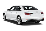 Car pictures of rear three quarter view of a 2018 Audi A4 Premium 4 Door Sedan angular rear