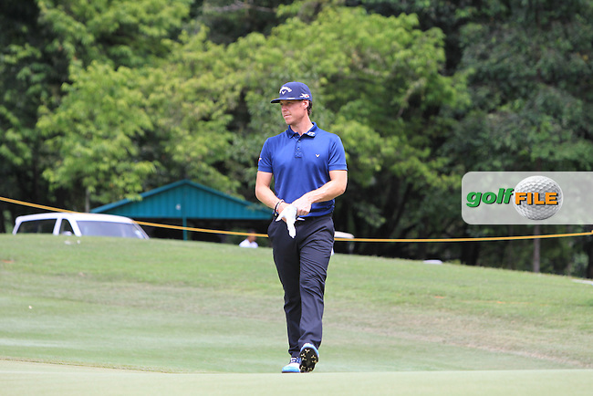 Kristoffer Broberg (SWE) in action during Round Two of the Maybank Championship Malaysia 2016, at the Royal Selangor Golf Club, Kuala Lumpur, Malaysia.  19/02/2016. Picture: Golffile | Thos Caffrey.<br /> <br /> All photos usage must carry mandatory copyright credit (&copy; Golffile | Thos Caffrey).