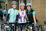 At the Na Gaeil Cycle on Saturday were Grainne Brick, Joanne Crowley and Catriona Hamilton