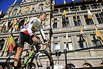 Edvald Boasson Hagen (NOR) Team Dimension Data on stage at sign on before the 101st edition of the Tour of Flanders 2017 running 261km from Antwerp to Oudenaarde, Flanders, Belgium. 26th March 2017.<br /> Picture: Eoin Clarke | Cyclefile<br /> <br /> <br /> All photos usage must carry mandatory copyright credit (&copy; Cyclefile | Eoin Clarke)