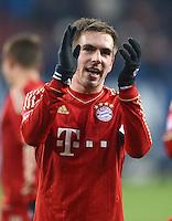 FUSSBALL   1. BUNDESLIGA  SAISON 2012/2013   16. Spieltag FC Augsburg - FC Bayern Muenchen         08.12.2012 Philipp Lahm (FC Bayern Muenchen)