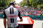 Wilco Kelderman (NED) Team Sunweb at sign before Stage 15 of the 2017 La Vuelta, running 129.4km from Alcal&aacute; la Real to Sierra Nevada. Alto Hoya de la Mora. Monachil, Spain. 3rd September 2017.<br /> Picture: Unipublic/&copy;photogomezsport | Cyclefile<br /> <br /> <br /> All photos usage must carry mandatory copyright credit (&copy; Cyclefile | Unipublic/&copy;photogomezsport)