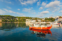 The port at Patitiri of Alonissos island, Greece