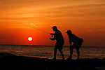 FLY FISHING FOR TARPON AT SUNSET