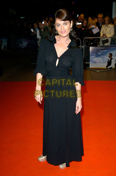 "ROBIN TUNNEY.The Times BFI 51st London Film Festival Screening of ""The Assasination Of Jesse James By The Coward Robert Ford"", Odeon West End, London, England, .October 19th 2007. .full length black dress long gold platform shoes.CAP/CAN.©Can Nguyen/Capital Pictures"