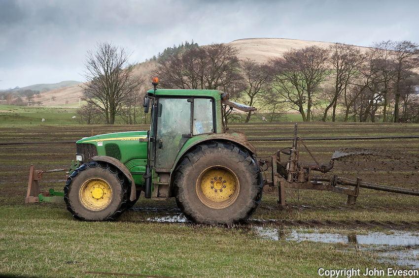 Umbilical slurry spreading, Dunsop Bridge, Lancashire.