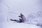 An image of a skier in powder snow at Squaw Vally, Ca.