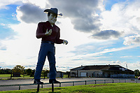 USA, New Jersey, large cowboy sculpture