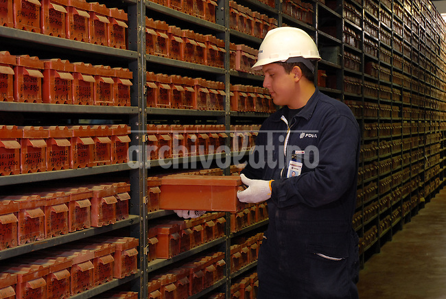 The archives   of Venezuelan state owned company PDVSA where information about  soil plaques is kept. Exploring new oil sources is a complex and very costly field of the oil industry.