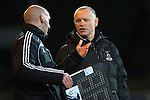 St Johnstone v Inverness Caledonian Thistle...20.12.14   SPFL<br /> Yogi Hughes talkes with 4th official Bobby Madden<br /> Picture by Graeme Hart.<br /> Copyright Perthshire Picture Agency<br /> Tel: 01738 623350  Mobile: 07990 594431