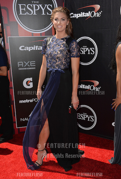 US women's soccer star Alex Morgan at the 2015 ESPY Awards at the Microsoft Theatre LA Live.<br /> July 15, 2015  Los Angeles, CA<br /> Picture: Paul Smith / Featureflash