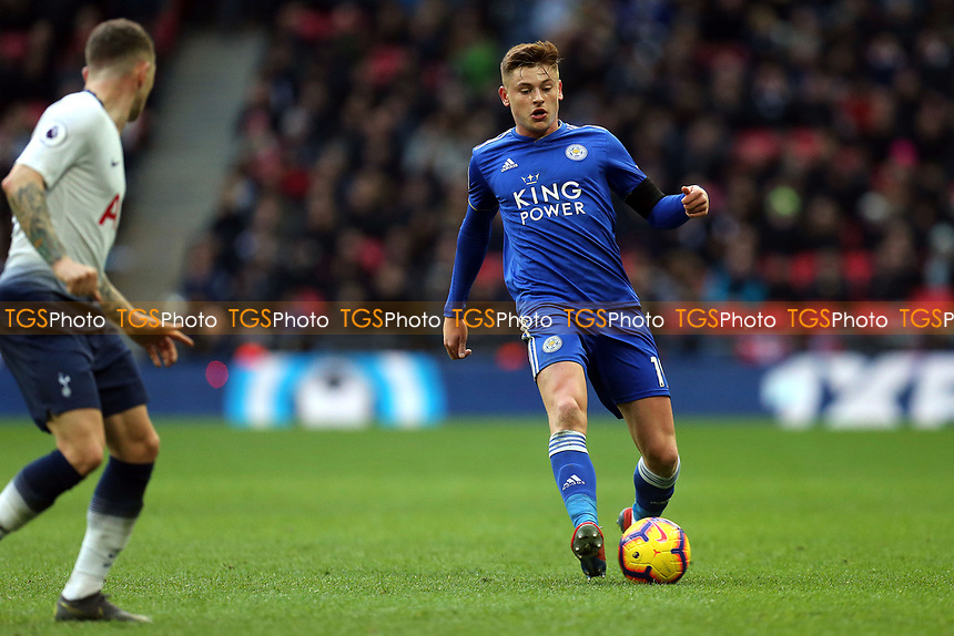 Harvey Barnes of Leicester City and Kieran Trippier of Tottenham Hotspur during Tottenham Hotspur vs Leicester City, Premier League Football at Wembley Stadium on 10th February 2019