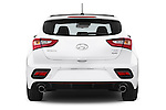 Straight rear view of 2015 Hyundai I30 Turbo 3 Door Hatchback stock images