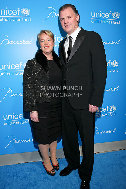 Actress Amy Robbins, and UNICEF SVP of Marketing Jeff Towers arrive at the UNICEF Snowflake Ball, Presented by Baccarat, at Cipriani 42nd Street, November 30, 2010.