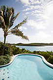 EXUMA, Bahamas. A pool at the Hill House which is the main common area at Fowl Cay Resort.