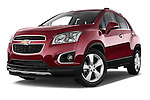 Low aggressive front three quarter view of a 2013 Chevrolet TRAX LT+ 5 Door Suv 2WD