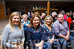 Enjoying the culinary delights at the Ardfert National school fundraiser in aid of the new hall at the Ballyroe Heights Hotel on Thursday night last were Karen Dowling, Mary Crosby, Sarah Quirke and Eoin Lawlor of Ardfert.