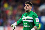 Goalkeeper Iago Herrein of Deportivo Leganes reacts during their La Liga match between Atletico de Madrid and Deportivo Leganes at the Vicente Calderón Stadium on 04 February 2017 in Madrid, Spain. Photo by Diego Gonzalez Souto / Power Sport Images