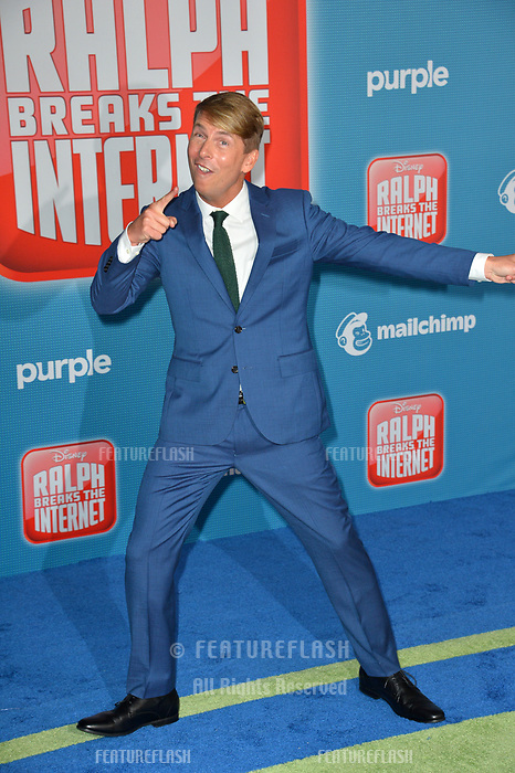 "LOS ANGELES, CA. November 05, 2018: Jack McBrayer at the world premiere of ""Ralph Breaks The Internet"" at the El Capitan Theatre.<br /> Picture: Paul Smith/Featureflash"
