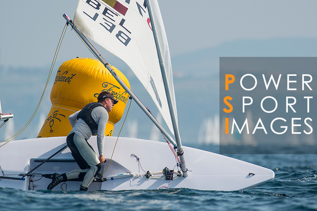 Sam Vandormael from Belgium in action during the ISAF Sailing World Championships 2014 at the Real Club Maritimo of Santander on September 12, 2014 in Santander, Spain. Photo by Nacho Cubero / Power Sport Images