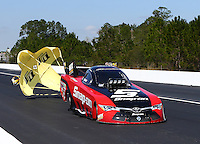 Mar 20, 2016; Gainesville, FL, USA; NHRA funny car driver Cruz Pedregon during the Gatornationals at Auto Plus Raceway at Gainesville. Mandatory Credit: Mark J. Rebilas-USA TODAY Sports