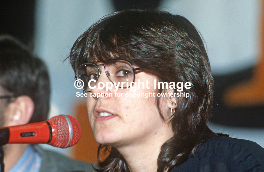 Aine Ni Mhurcha, staff, Provisional Sinn Fein office, Dublin, Rep of Ireland, 19840157ANM..Copyright Image from Victor Patterson, 54 Dorchester Park, Belfast, UK, BT9 6RJ..Tel: +44 28 9066 1296.Mob: +44 7802 353836.Voicemail +44 20 8816 7153.Skype: victorpattersonbelfast.Email: victorpatterson@me.com.Email: victorpatterson@ireland.com (back-up)..IMPORTANT: If you wish to use this image or any other of my images please go to www.victorpatterson.com and click on the Terms & Conditions. Then contact me by email or phone with the reference number(s) of the image(s) concerned.