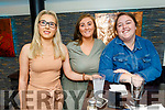 Suzanne Rigney, Michelle Doyle and Kayleigh Tallon enjoying the evening in the Brogue Inn on Friday
