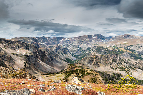 Beartooth Mountains looking to the head of Rock Creek From the Beartooth Highway