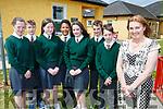 Firies Principal Margaret Brosnan who retired on Friday with l-r: Ellen O'Sullvan, Stephen Palmer, Sarah Doody, Sean Joseph, Mellissa Darlington, Colm O'Shea and Padraig Fell