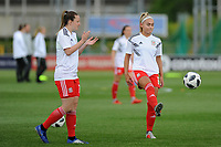 Charlie Estcourt of Wales Women's' during the pre-match warm-up for the Women's International Friendly match between Wales and New Zealand at the Cardiff International Sports Stadium in Cardiff, Wales, UK. Tuesday 04 June, 2019