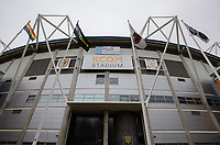 A general view of KCOM Stadium, home of Hull City FC<br /> <br /> Photographer Chris Vaughan/CameraSport<br /> <br /> The EFL Sky Bet Championship - Hull City v Sheffield Wednesday - Saturday 12th January 2019 - KCOM Stadium - Hull<br /> <br /> World Copyright &copy; 2019 CameraSport. All rights reserved. 43 Linden Ave. Countesthorpe. Leicester. England. LE8 5PG - Tel: +44 (0) 116 277 4147 - admin@camerasport.com - www.camerasport.com