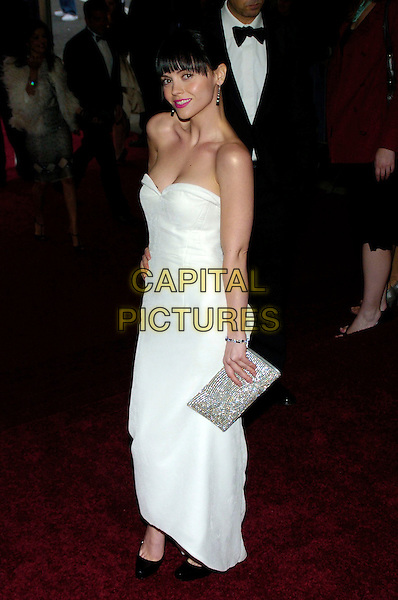 "CHRISTINA RICCI.2007 Metropolitan Museum of Art Costume Institute Gala celebrating ""Poiret: King of Fashion"" exibition at the Metropolitan Museum of Art, New York City, New York, USA..May 7th, 2007.full length white strapless dress silver clutch purse.CAP/ADM/BL.©Bill Lyons/AdMedia/Capital Pictures *** Local Caption ***"