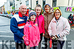 Padraig, Aoife, Aishling and Brenda O'Connell and Mary Hartnett attending the Bill Kirby Memorial Walk fundraiser for the Kerry Hospice on St Stephens morning.