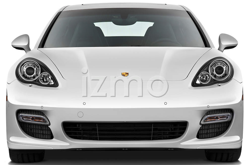 Straight front view of a 2010 Porsche Panamera Turbo