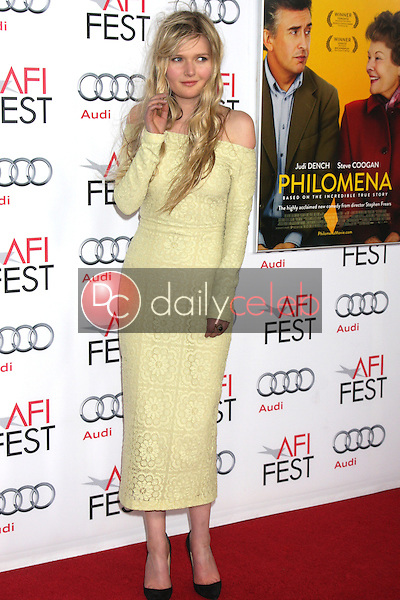 """LOS ANGELES - NOV 13:  Sophie Kennedy Clark at the """"Philomena"""" Special Screening at AFI Fest at TCL Chinese Theater on November 13, 2013 in Los Angeles, CA"""