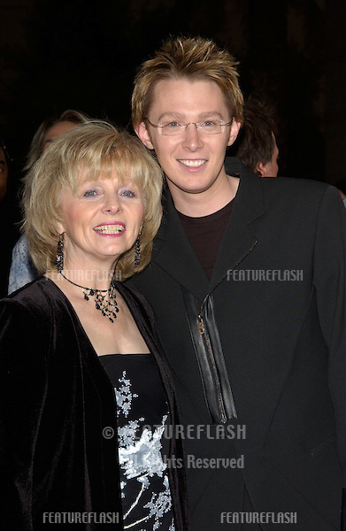 CLAY AIKEN & mother FAYE at the 2003 Billboard Music Awards at the MGM Grand, Las Vegas..December 10, 2003