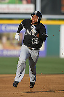 August 9 2009: Darren Ford of the San Jose Giants during game against the Rancho Cucamonga Quakes at The Epicenter in Rancho Cucamonga,CA.  Photo by Larry Goren/Four Seam Images