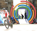 Wales' Amy Roberts sets off on her lap<br /> <br /> Photographer Chris Vaughan/Sportingwales<br /> <br /> 20th Commonwealth Games - Day 8 - Wednesday 30st July 2014 - Cycling - time trial - Glasgow - UK