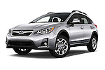 Stock pictures of low aggressive front three quarter view of 2017 Subaru Crosstrek 2.0i Premium CVT 5 Door SUV Low Aggressive