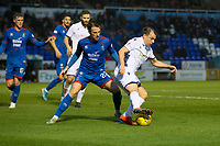 23rd November 2019; Caledonian Stadium, Inverness, Scotland; Scottish Championship Football, Inverness Caledonian Thistle versus Dundee Football Club; Paul McGowan of Dundee and Brad McKay of Inverness Caledonian Thistle  - Editorial Use