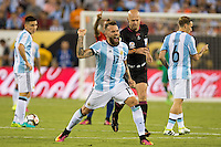 Action photo during the match Argentina vs Chile, Corresponding to Great Final of the America Centenary Cup 2016 at Metlife Stadium, East Rutherford, New Jersey.<br /> <br /> <br /> Foto de accion durante el partido Argentina vs Chile, correspondiente a la Gran Final de la Copa America Centenario 2016 en el  Metlife Stadium, East Rutherford, Nueva Jersey, en la foto: Nicolas Otamendi de Argentina<br /> <br /> <br /> 26/06/2016/MEXSPORT/Jorge Martinez.