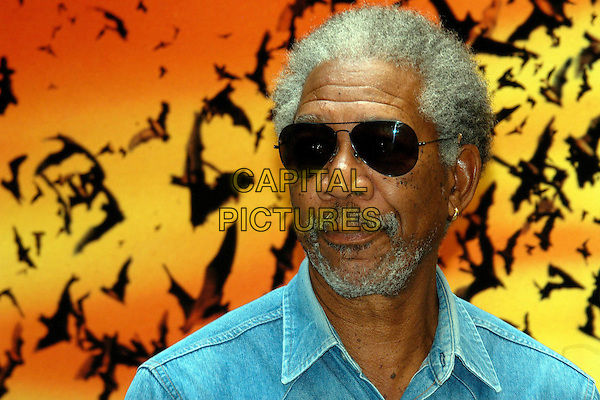 "MORGAN FREEMAN.""Batman Begins"" Photocall.Rome, Itlay, June 16th 2005..portrait headshot sunglasses beard.Ref: OME.www.capitalpictures.com.sales@capitalpictures.com.©Omega/Capital Pictures."