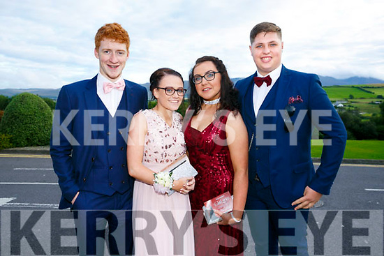 Enjoying the Killarney secondary schools Debs at Ballyroe Heights Hotel on Monday were Christopher Marshalll, Leanne Maher, Laura Daly and Brogan Edmonds