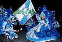 Dancers taking part in a traditional Rio Carnival in Rio de Janeiro, Brazil