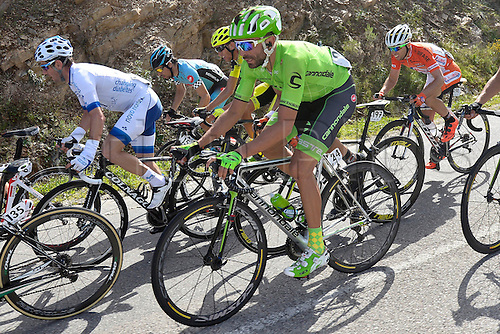 21.02.2016. Almodovor, Algarve, Portugal.  MOSER Moreno (ITA)  of CANNONDALE PRO CYCLING TEAM in action during stage 5 of the 42nd Tour of Algarve cycling race with start in Almodovar and finish in Malhao (Loule) on February 21, 2016 in Malhao, Portugal.